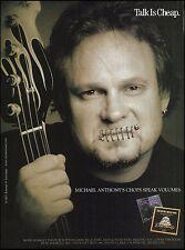 Michael Anthony Van Halen 2003 Dean Markley Bass strings ad 8 x 11 advertisement