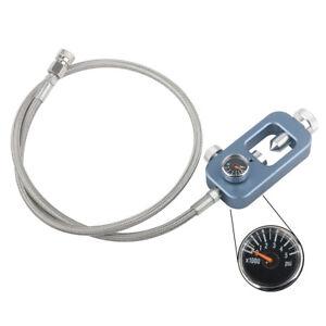 DIN Valve Scuba Adapter 4500psi High Pressure Tank Fill Station With Teflon Hose