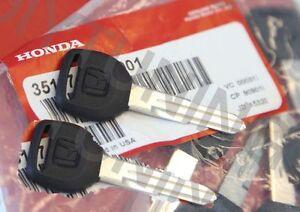 TWO Genuine OEM Honda Key Blank Accord Civic CR-V del Sol Prelude Odyssey