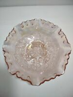 """Vintage IMPERIAL Marigold CARNIVAL Glass WINDMILL Crimped Ruffled 7.5"""" Bowl Nice"""