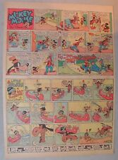 Mickey Mouse Sunday Page by Walt Disney from 2/2/1941 Tabloid Page Size