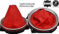 RED REAL LEATHER MANUAL SHIFT BOOT FITS INFINITI G35 COUPE 2003-2007
