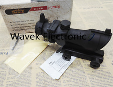 ACOG Style 4X32 Black Reticle Crosshair Rifle Scope Hunting Tactical Aluminum