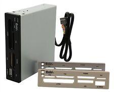 "CF SD MMC SDHC memory card reader fits inside desktop 3.5"" Drive Bay Internal"