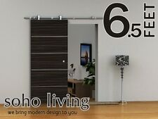 [Cordia] European Modern Stainless Wood Sliding Barn Door Hardware Set