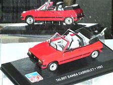 BELLE TALBOT SAMBA CABRIOLET 1983/ ROUGE/