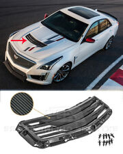 CARBON FIBER Hood Vent Louver Cover For 16-19 Cadillac CTS-V GM Factory Style