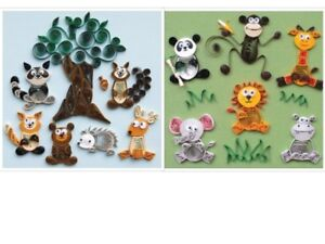 Quilled Creations Forest or Jungle Buddies Quilling Kit NEW Free Shipping