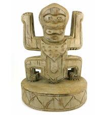 Totem style Koh Lanta en bois - trophée statue ethnique chic.