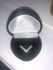 18ct White & YellGold Diamond Wishbone Ring 0.4ct Valuation Certificate Size O