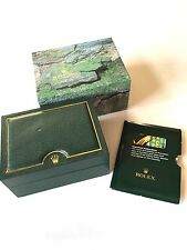Authentic ROLEX WATCH BOX Green w/outer box, etc. for Men's Submariner