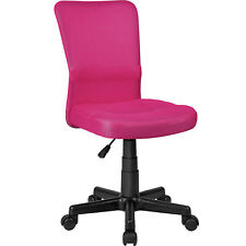TecTake Patrick Chaise De Bureau Rose En Polyester 401792