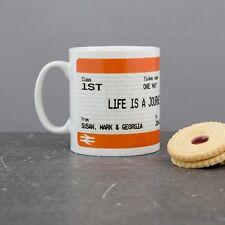 Personalised Graduation Train Ticket Mug - Train Ticket Style Print