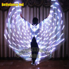 USA! lights up LED isis wings for sale rechargeable butterfly belly dance sticks