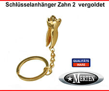 Schlüsselanhänger  Backenzahn vergoldet  - Zahn 2  Zahntechnik  Zahntechniker