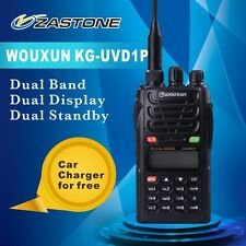 WouXun KG-UVD1P Handheld Two Way Radio Dual Band Walkie Talkie 1400mAh Battery
