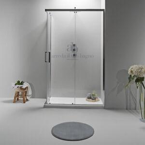 Cabina Box doccia angolare scorrevole in cristallo vetro trasparente opaco