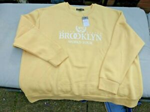 Yellow Sweatshirt with Large Motif - Size 22/24 - New with Tags