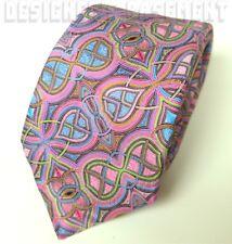 ERMENEGILDO ZEGNA Limited Edition QUINDICI pink INFINITY silk Tie NWT Authentic!