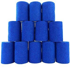 Inksafe Blue Self Adherent Cohesive Bandages 7.5cm x 4.5m Box of 12