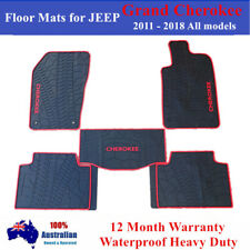 All Weather Floor Mats Tailored for JEEP Grand Cherokee 2011 - 2018 Red Black