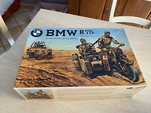 Rarissimo Kit moto Bmw R75 con sidecar Esci cod. 7001 sc.1:9 nuovo da collezione