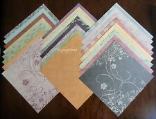 "DCWV THE LUXURY STACK LOT of 24 Scrapbook Sheets of 12"" x 12"" Printed Cardstock"