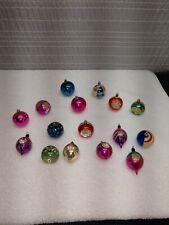 Vintage Mercury Glass Christmas Ornaments Lot 16