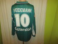 """FC Gütersloh Puma Langarm Matchworn Trikot 99/00 """"MIELE"""" + Nr.10 Weidemann Gr.XL"""