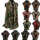 Fashion Womens Leopard&Heart Print Long/Infinity Scarf Snood Soft Ladies Scarves