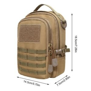 Outdoor Military Nylon Molle Pack Belt Bag Mini Pouches Large Capacity Phone Bag