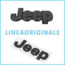 Scritta Coppia ORIGINALE Jeep Renegade logo emblema stemma cofano ant+post ita