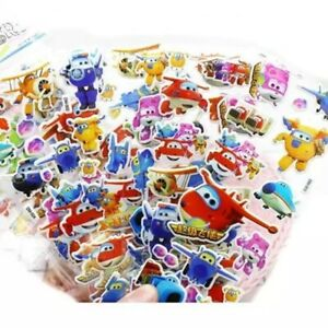 3 sheets set Super wings puffy Stickers Birthday gift loot bag kids craft