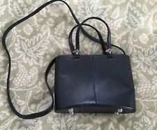 VICENZA Navy Blue Small Crossbody Top Handbag Purse Bag-MINT