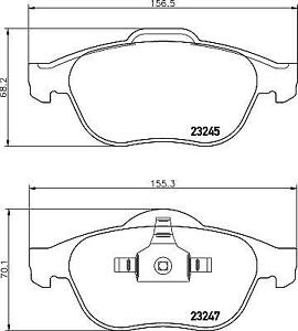 Hella Pagid Front Brake Pads fits Renault SCENIC J84 1.9 dCi (JM14)