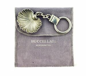 Vintage Buccellati Arca 925 Sterling Silver Shell Keychain Keyring Key Holder