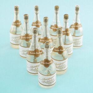 Mini Wedding Bubbles Champagne Bottle Souvenir Keepsake