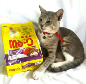 Me-O Cat Food for your adult cat seafood flavoured 450g