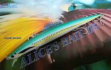"NEW LONG JERK ""ALICE'S BAIT"" MINNOW 175 SLIM FLOATING - SIMIL TIDE COLOR: SELENE"