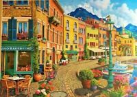 Harbour View Jigsaw Puzzle Boats Flowers Colour **Fast Dispatc