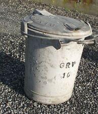ancienne poubelle GALVA metal gavanisé sceau couvercle abattant deco loft