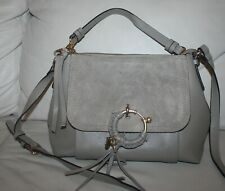 See By Chloe Small Joan Gray Leather Shoulder Bag