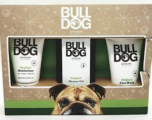 BULLDOG Original Body Care Kit Moisturiser Shower Gel Wash NEW Damaged Box #3602