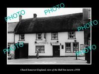 OLD LARGE HISTORIC PHOTO CHARD SOMERSET ENGLAND, THE BALL INN TAVERN c1950