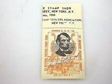 RARE - 1960 NEW YORK STAMP SHOW RALPH DYER SIGNED STAMP - ORANGE - NO RESERVE!!!