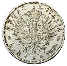 2 LIRE 1905 AQUILA SABAUDA - ITALIA - VITTORIO EMANUELE III - qSPL -