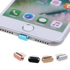 Piel de metal de 2in1 PC Cargador Dock Anti-Polvo Enchufe Tapón Tapa Para iPhone 7/7 Plus