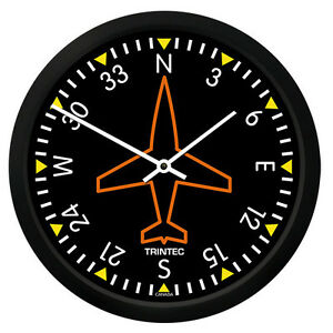 """New Trintec 10"""" Classic Directional Gyro Clock 9062-10 - A Great Aviation Gift"""