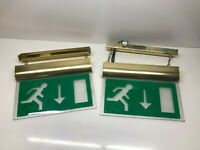 2x Channel Forest LED Self Test Matt Brass Exit Sign