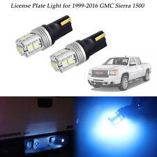 T10 10-SMD Ice Blue LED Bulbs For 1999-2016 GMC Sierra 1500 License Plate Light